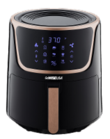 GoWISE USA 7-Quart Electric Air Fryer with Dehydrator, Black/Copper