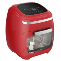 GoWISE USA 11.6-Quart Air Fryer Toaster Oven, Vibe, Red/Silver