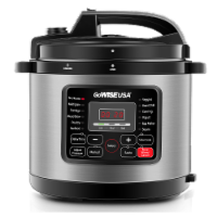 GoWISE USA 6-Quart 12-in-1 Multi-Use Programmable Pressure Cooker, Stainless Steel