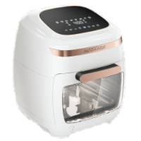 GoWISE USA 11.6-Quart Air Fryer Toaster Oven, Vibe, White/Rose Gold