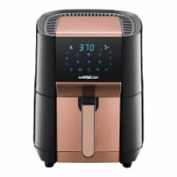 7-Quart Air Fryer & Dehydrator Max XL, Black/Copper