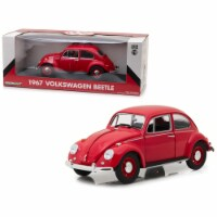 1967 Volkswagen Beetle Right Hand Drive Candy Apple Red 1/18 Diecast Model Car by Greenlight - 1
