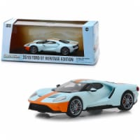 2019 Ford GT Heritage Edition \Gulf Oil\ Color Scheme 1/43 Diecast Model Car by Greenlight - 1