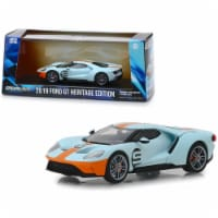 2019 Ford GT #9 Heritage Edition \Gulf Oil\ Color Scheme 1/43 Diecast Model Car by Greenlight - 1