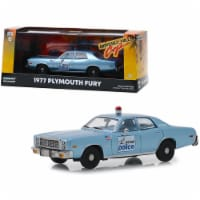 1977 Plymouth Fury Blue \Detroit Police\ \ Beverly Hills Cop\  (1984) Movie Diecast Model Car - 1