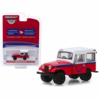 1975 Jeep DJ-5 \Canada Post\ Red with White Top \ Hobby Exclusive\  1/64 Diecast Model Car - 1