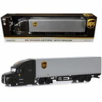 2019 Mack Anthem with Trailer \United Parcel Service\ (UPS) Brown and Silver Diecast Model - 1