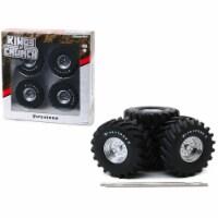 48-Inch Monster Truck \Firestone\ Wheels & Tires 6 piece Set \ Kings of Crunch\  1/18 - 1