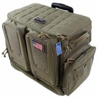 GPS Tactical Rolling Range Case Bag For Shooting Gear, 10 Handguns, & Ammo, Tan - 1 Piece