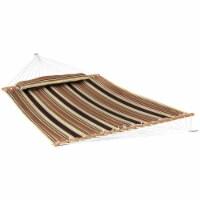 Sunnydaze 2-Person Quilted Hammock w/ Spreader Bars -450-lb Capacity-Sandy Beach