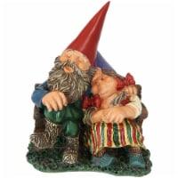 "Sunnydaze Al and Anita on Bench Gnome Statue - Small Lawn and Garden Decor - 8"" - 1 garden gnome"