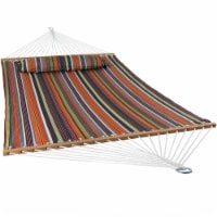 Sunnydaze 2-Person Quilted Spreader Bar Hammock Bed and Pillow - Canyon Sunset - 1 quilted hammock