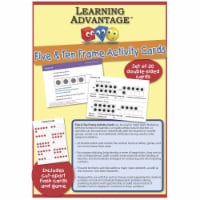 Learning Advantage 1540204 F U N Five & Ten Frame Activty Cards