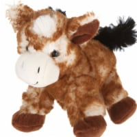 Giftable World A00047 7 in. Plush Lying Horse - Brown
