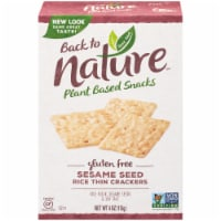 Back to Nature Gluten-Free Sesame Seed Rice Thin Crackers