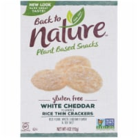 Back to Nature Gluten-Free White Cheddar Rice Thin Crackers