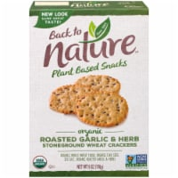 Back To Nature Organic Roasted Garlic & Herb Stoneground Wheat Crackers