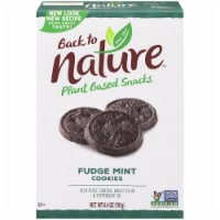 Back to Nature Plant Based Snacks Fudge Mint Cookies