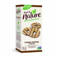 Back to Nature Fudge Striped Shortbread Cookies - 8.5 oz