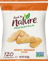 Back to Nature Honey Graham Sticks Plant Based Snacks - 1 oz