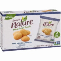 Back To Nature Madagascar Wafers Whole Grain Wheat Flour Vanilla - Case of 4 - 1.12 oz