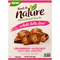 Back to Nature Whole Lotta Love Cranberry Hazelnut Crackers