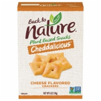 Back to Nature Cheddalicious Cheese Flavored Vegan Crackers