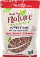 Back to Nature Dark Chocolate Lower Sugar Plant Based Granola - 8 oz