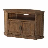 Martin Svensson Home Rustic Corner 50  Solid Wood TV Stand Natural Brown - 1