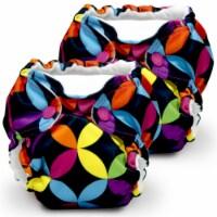 Kanga Care Lil Joey Newborn All in One AIO Cloth Diaper (2pk) Jeweled 4-12lbs - Newborn
