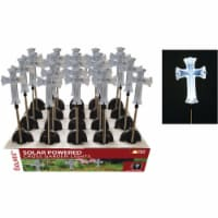 Solaris Acrylic Cross 34 In. H. Solar Stake Light Lawn Ornament Pack of 20 - 20