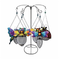 Alpine Cardinal Steel & Glass Metal Cage Bird Feeder- Pack of 8