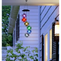 Alpine Corp  QLP840SLR-CC Solar Flower Wind Chime with LED Light