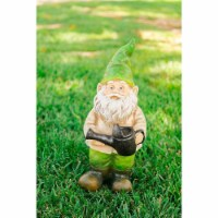 Alpine Corp GDS116 Gnome Holding a Water Can Statue - 1