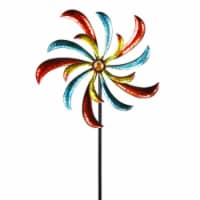 Alpine Corp SLL1874 Colorful Swirl Kinetic Wind Spinner Garden Stake