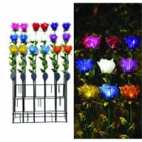 Alpine 8015530 33 in. Glass Tulip Petals Outdoor Garden Stake, Multi Color - Case of 18 - 1