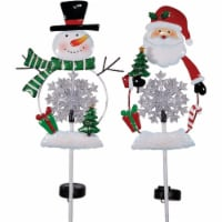 Alpine 36 In. LED Snowman/Santa Solar Stake Light RGG358A Pack of 8 - 8
