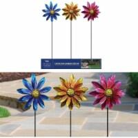 Alpine Vibrant Metal Floral Wind Spinner Garden Stake LJJ1144A Pack of 9 - 9