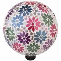 Alpine 10 In. Dia. Daisy Mosaic Glass Gazing Globe HGY426 - 1