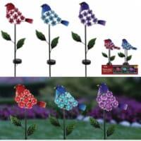 Alpine Solaris Plastic Hydrangea Floral Bird Solar Garden Stake Pack of 9 - 9