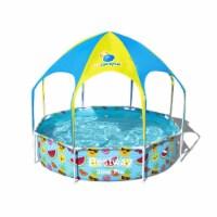Bestway 8 Ft x 20 In UV Careful Splash in Shade Spray Round Swimming Pool, Fruit - 1 Unit