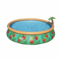 Bestway 57415E 15Ft x 33In Fast Set Paradise Palms Inflatable Swimming Pool Set
