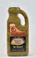 Young Guns Hatch Chile Factory Flame Roasted Medium Diced Green Chile Peppers - 36 oz