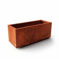 Metallic Series Long Box Large Planter - Corten Steel