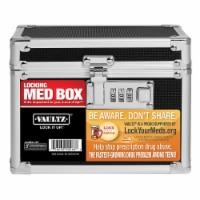 Vaultz Locking Pill Box - Black - 1 ct