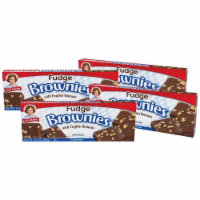 Little Debbie Fudge Brownies with Walnuts, 4 Boxes, 24 Individually Wrapped Brownies - 24