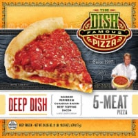 The Dish Deep Dish 5 Meat Pizza
