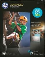 HP Advanced Bonus Pack Glossy Photo Paper - 65 Pack - White