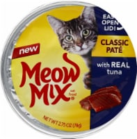 Meow Mix Classic Pate with Real Tuna Wet Cat Food
