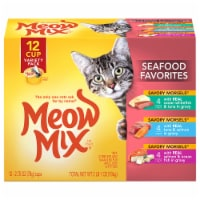 Meow Mix Seafood Favorites Savory Morsels in Gravy Wet Cat Food Variety Pack
